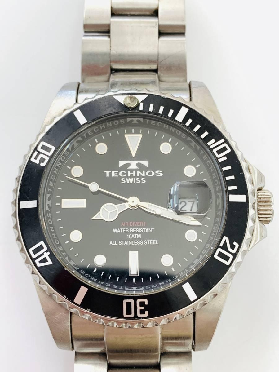 2163 480円~ 中古品 TECHNOS/テクノス AIR DIVER Ⅱ エアダイバー2 TAM629 クォーツ メンズ 腕時計