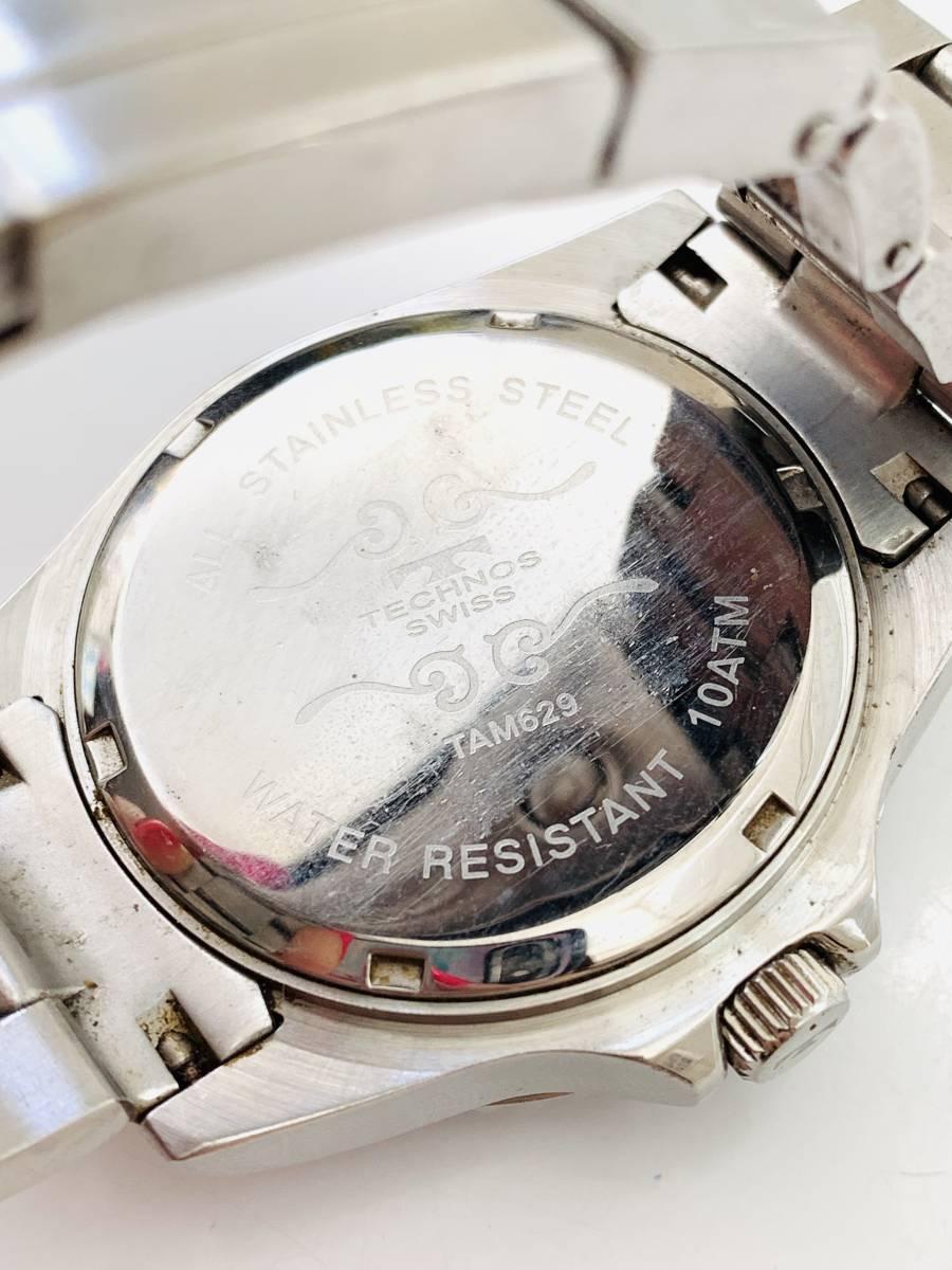 2163 480円~ 中古品 TECHNOS/テクノス AIR DIVER Ⅱ エアダイバー2 TAM629 クォーツ メンズ 腕時計_画像4