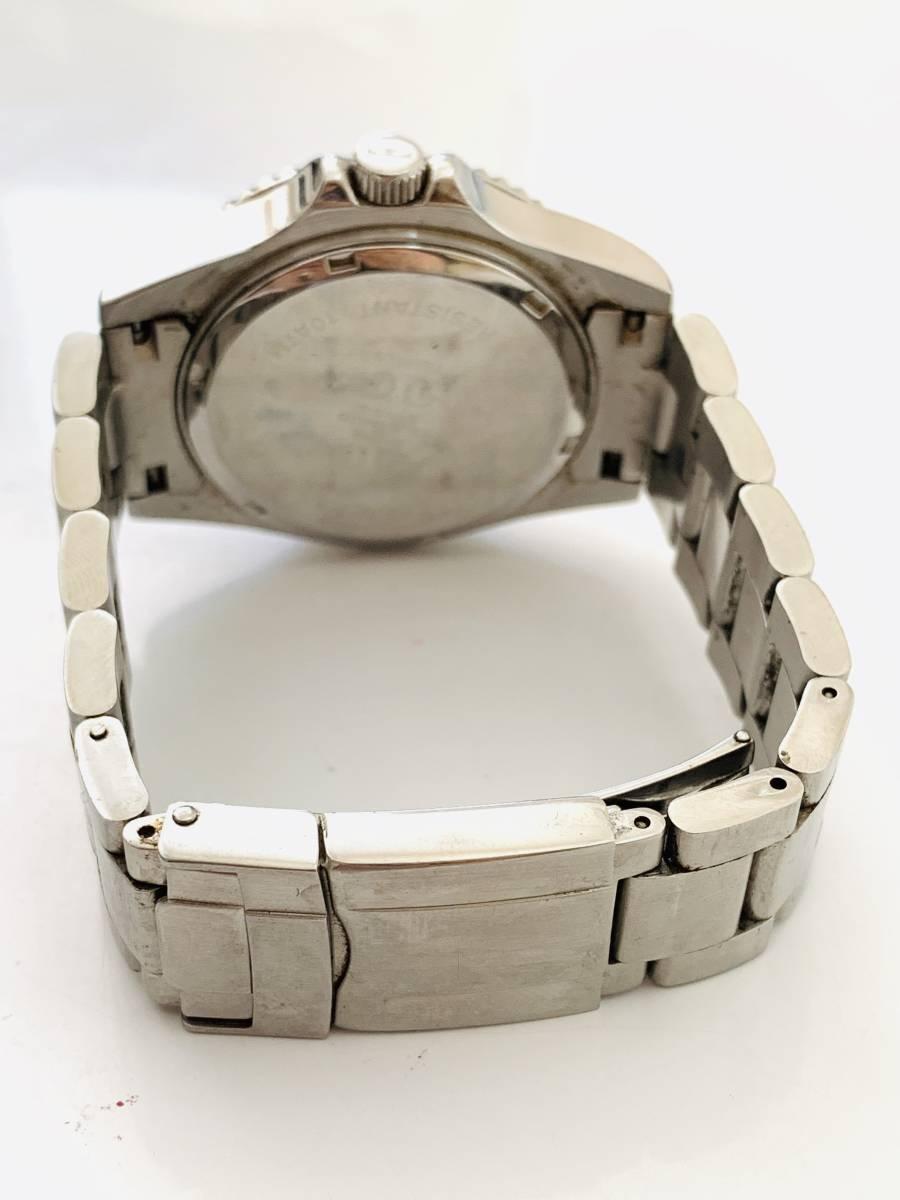 2163 480円~ 中古品 TECHNOS/テクノス AIR DIVER Ⅱ エアダイバー2 TAM629 クォーツ メンズ 腕時計_画像6