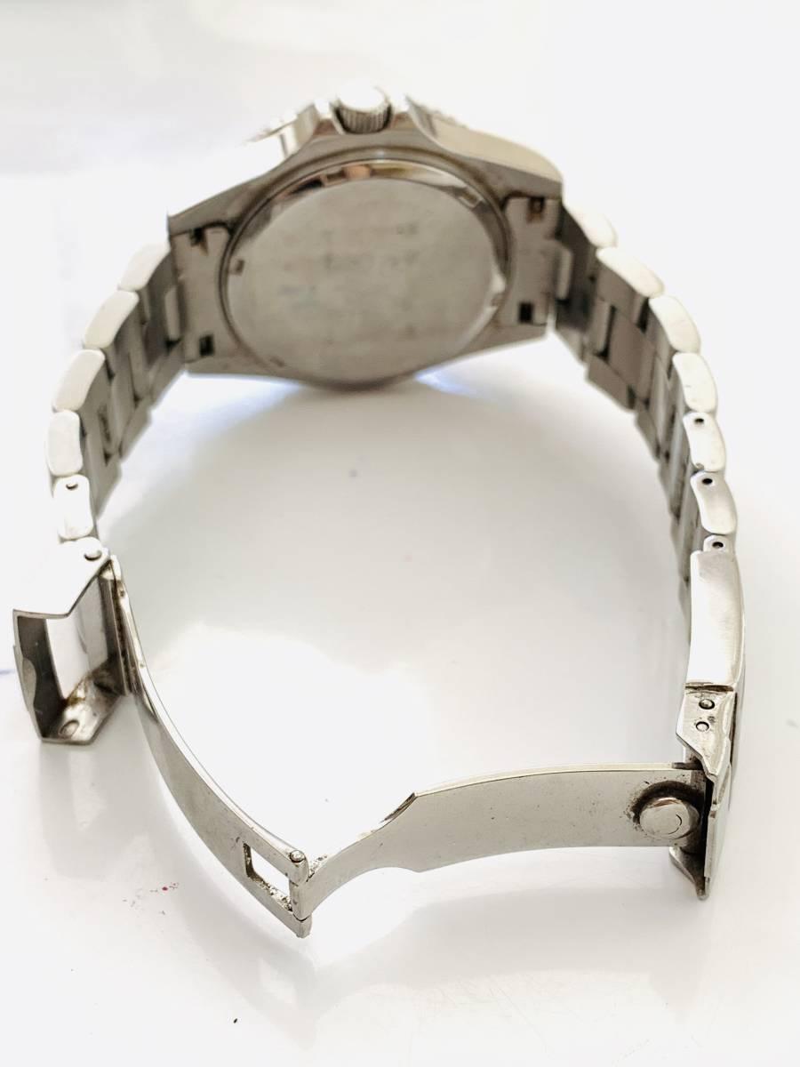 2163 480円~ 中古品 TECHNOS/テクノス AIR DIVER Ⅱ エアダイバー2 TAM629 クォーツ メンズ 腕時計_画像7