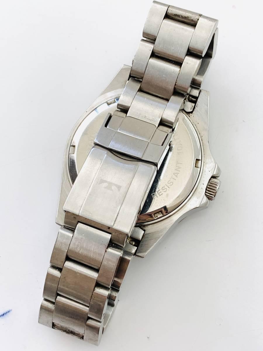 2163 480円~ 中古品 TECHNOS/テクノス AIR DIVER Ⅱ エアダイバー2 TAM629 クォーツ メンズ 腕時計_画像8