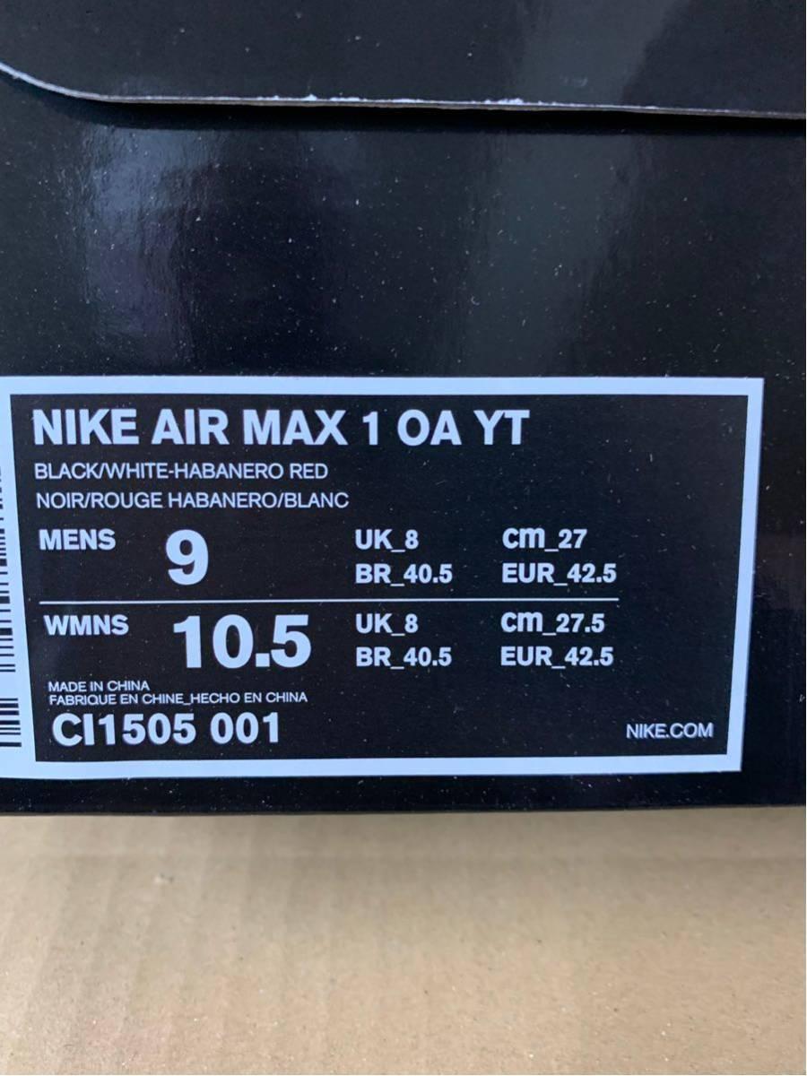 新品SNKRS購入国内正規NikeAirMax1ONAIRTOKYOMAZEマックス東京us9Jordansupreme95シュプジョーダンwhite_画像3