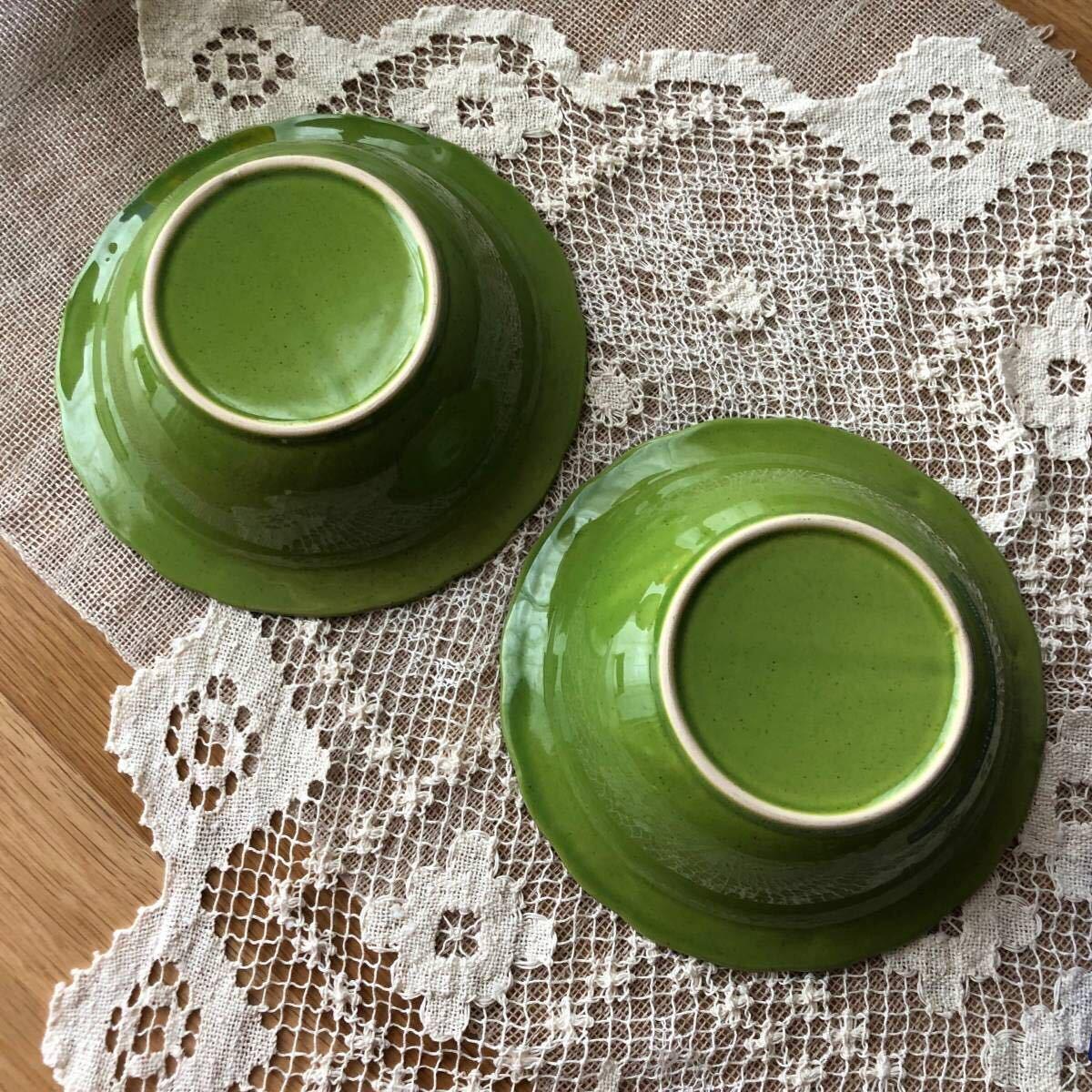 2点セット☆ フリーボウル 20cm リム オリーブ グリーン緑 ラーメン鉢 スープ サラダ パスタ 丼もの 麺料理 ナチュラル studio CLIP購入_画像5
