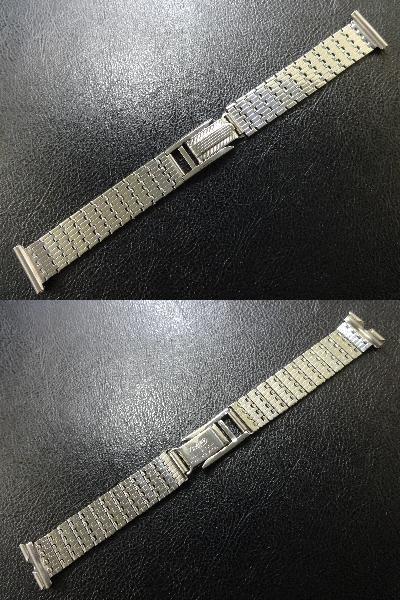 デッドストック アンティーク イングランド 製 1950's~ ZENETTE 腕時計用 ウォッチ SS ベルト バンド ブレス 17.8mm (18mm用) ビンテージ_画像2