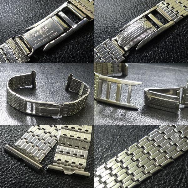 デッドストック アンティーク イングランド 製 1950's~ ZENETTE 腕時計用 ウォッチ SS ベルト バンド ブレス 17.8mm (18mm用) ビンテージ_画像3