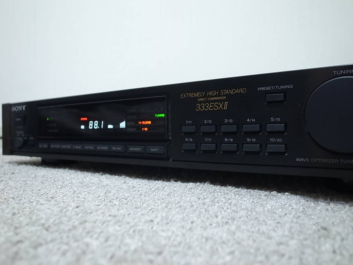 【チューナー最高音質】SONY ST-S333ESXⅡ 良品 本当のFM音を お勧めです_NHK大阪受信中