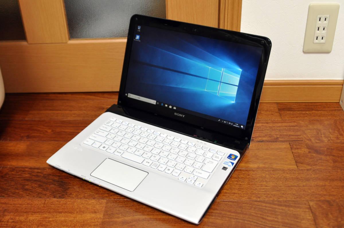 最新 Windows 10 搭載! 高速! SONY VAIO SVE14119FJW Pentium B970 2.30GHz/DDR3 4GB/320GB/MULTI/WIN 10 Home 64Bit