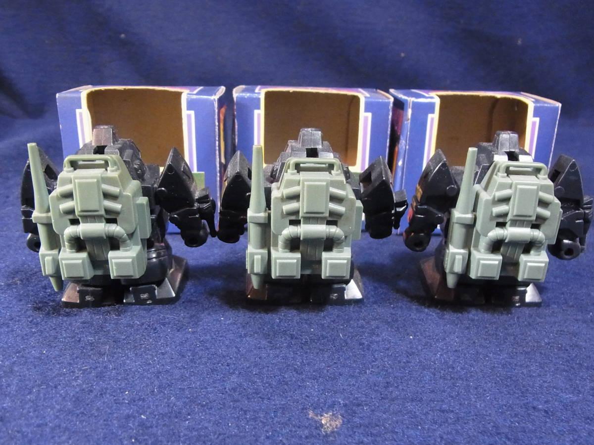 タカラ チョロQ ダグラム 3点セット 当時物 太陽の牙ダグラム 変形玩具 おもちゃ 動作確認済み_画像3