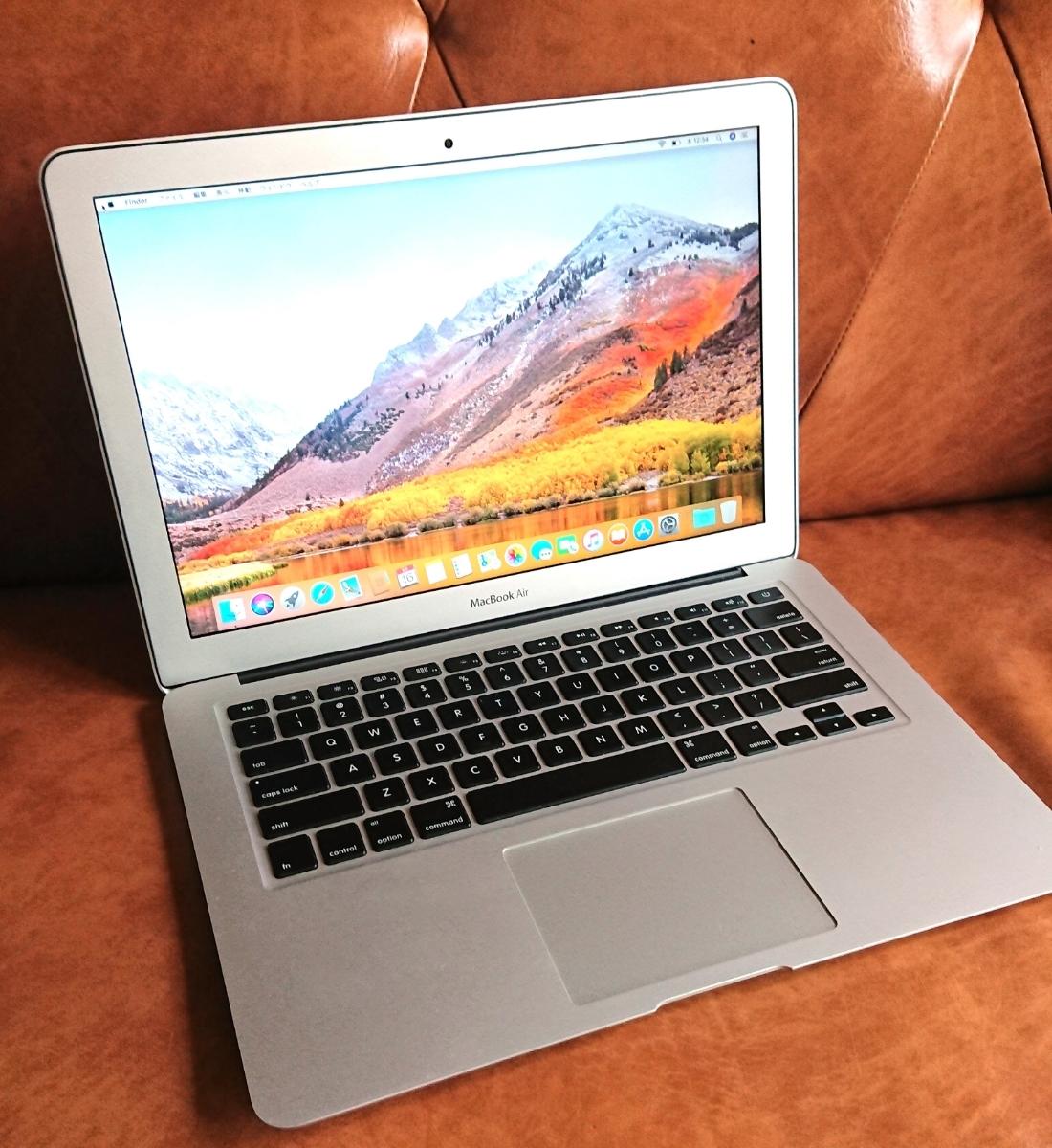 MacBook Air 13インチ【Mid 2012】US(英語)キーボード/i5 1.8GHz/メモリ 8GB/SSD 128GB/新品バッテリー/HD Graphics 4000