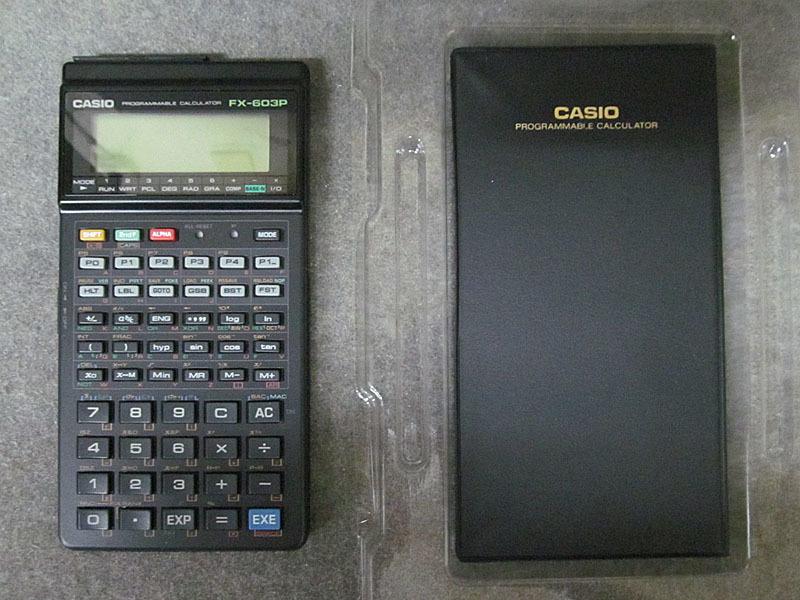 ★カシオ★CASIO FX-603P プログラム関数電卓★電池交換済、取扱説明書・プログラムライブラリ付 USED_画像2