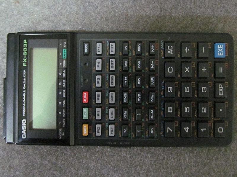 ★カシオ★CASIO FX-603P プログラム関数電卓★電池交換済、取扱説明書・プログラムライブラリ付 USED_画像3