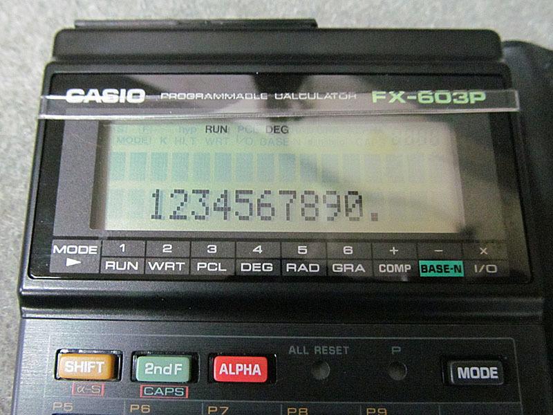 ★カシオ★CASIO FX-603P プログラム関数電卓★電池交換済、取扱説明書・プログラムライブラリ付 USED_画像5