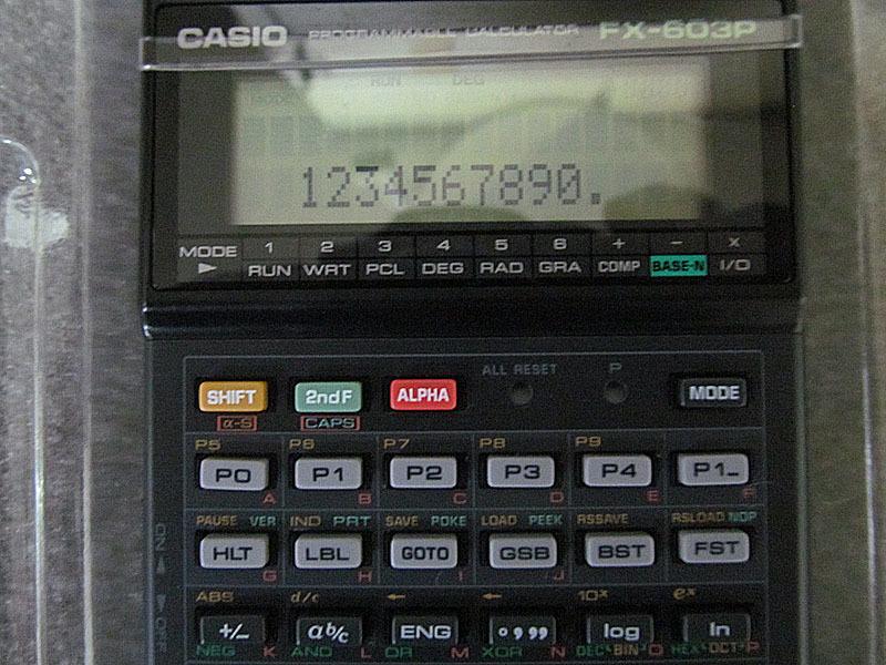 ★カシオ★CASIO FX-603P プログラム関数電卓★電池交換済、取扱説明書・プログラムライブラリ付 USED_画像6