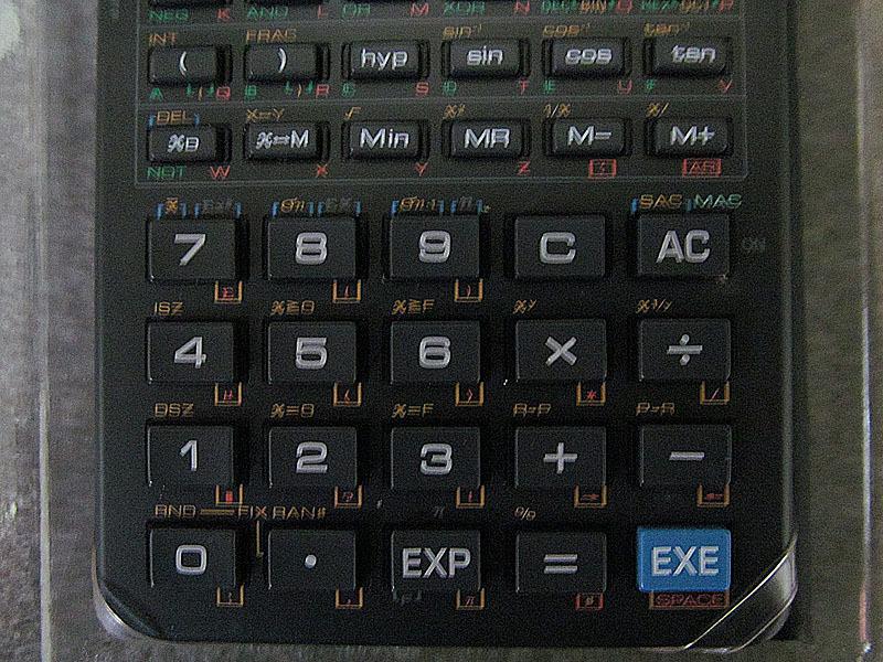 ★カシオ★CASIO FX-603P プログラム関数電卓★電池交換済、取扱説明書・プログラムライブラリ付 USED_画像7