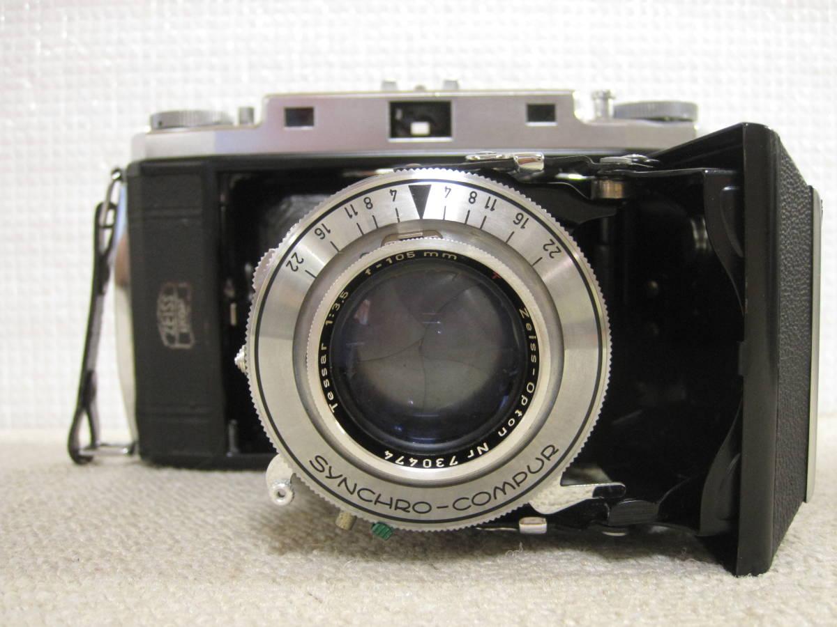 ▲ZISS IKON▲Zeiss-opton Tessar 1:3.5 f=105mm/SYNCHRO-COMPUR/蛇腹カメラ▲ジャンク品_画像2