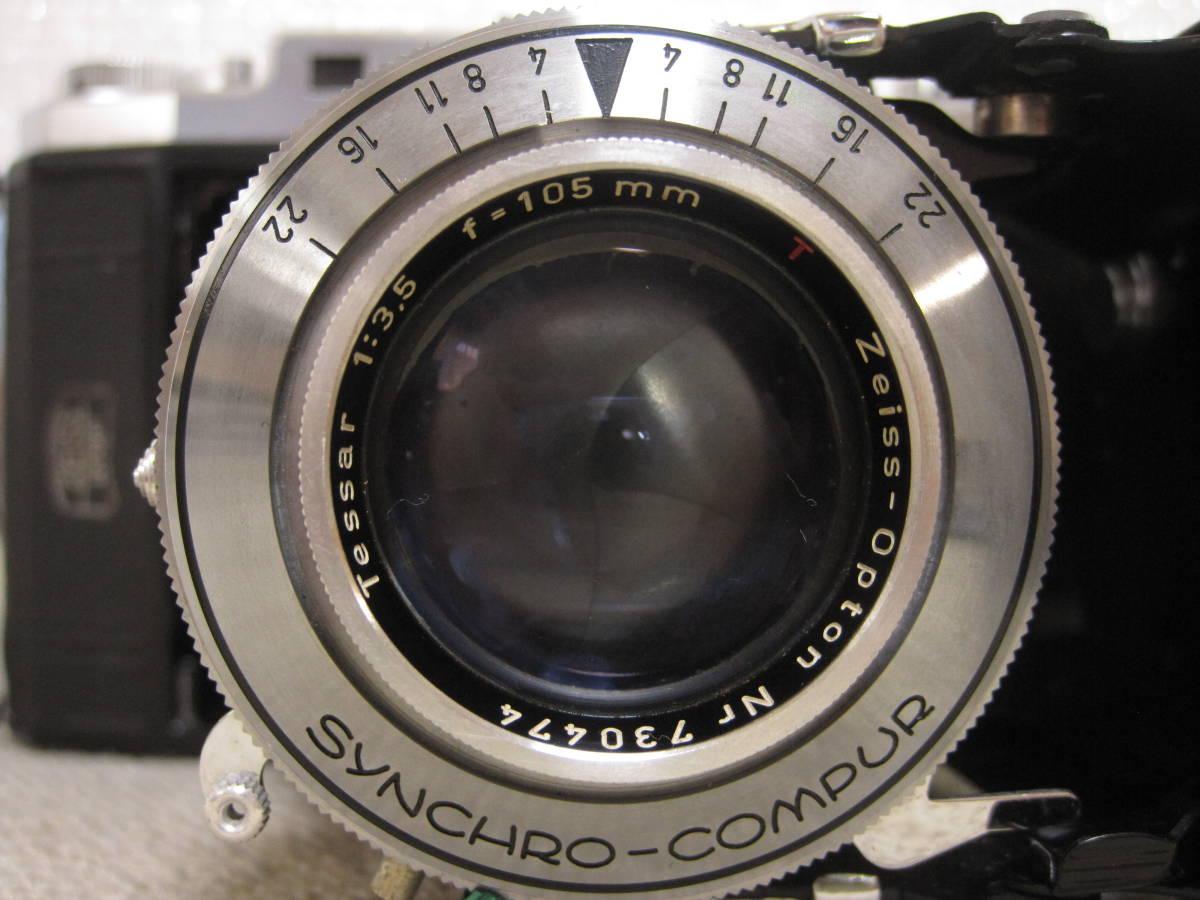 ▲ZISS IKON▲Zeiss-opton Tessar 1:3.5 f=105mm/SYNCHRO-COMPUR/蛇腹カメラ▲ジャンク品_画像8