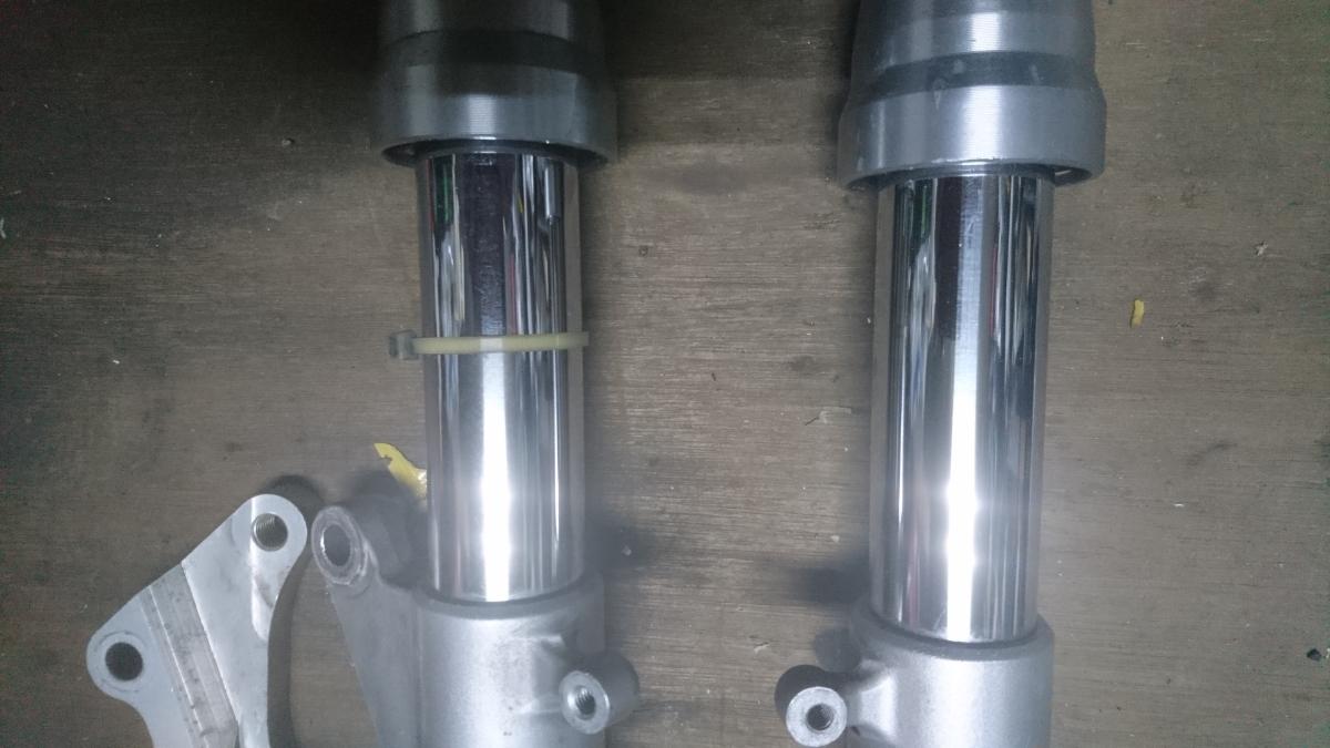 TZ125フロントフォーク ブレンボサポート付 RS125 NSF NSR50 NSR80 モンキー_画像2