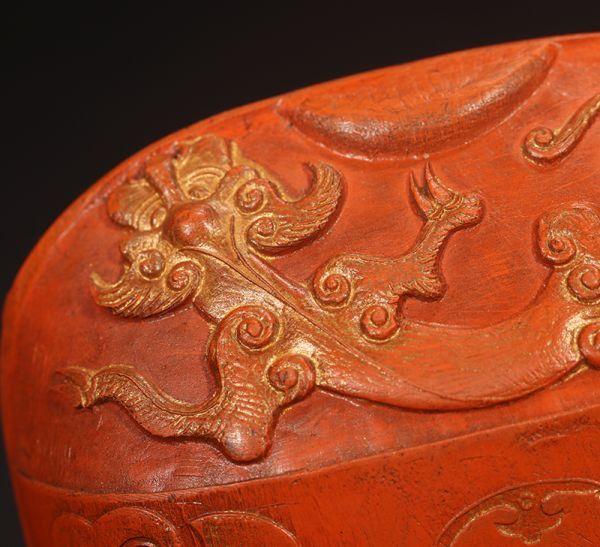古董品 唐物 中国古美術 清時代 乾隆年製 朱砂印章 御用 獸紋 古書道具 文房具 置物 擺件 賞物_画像2