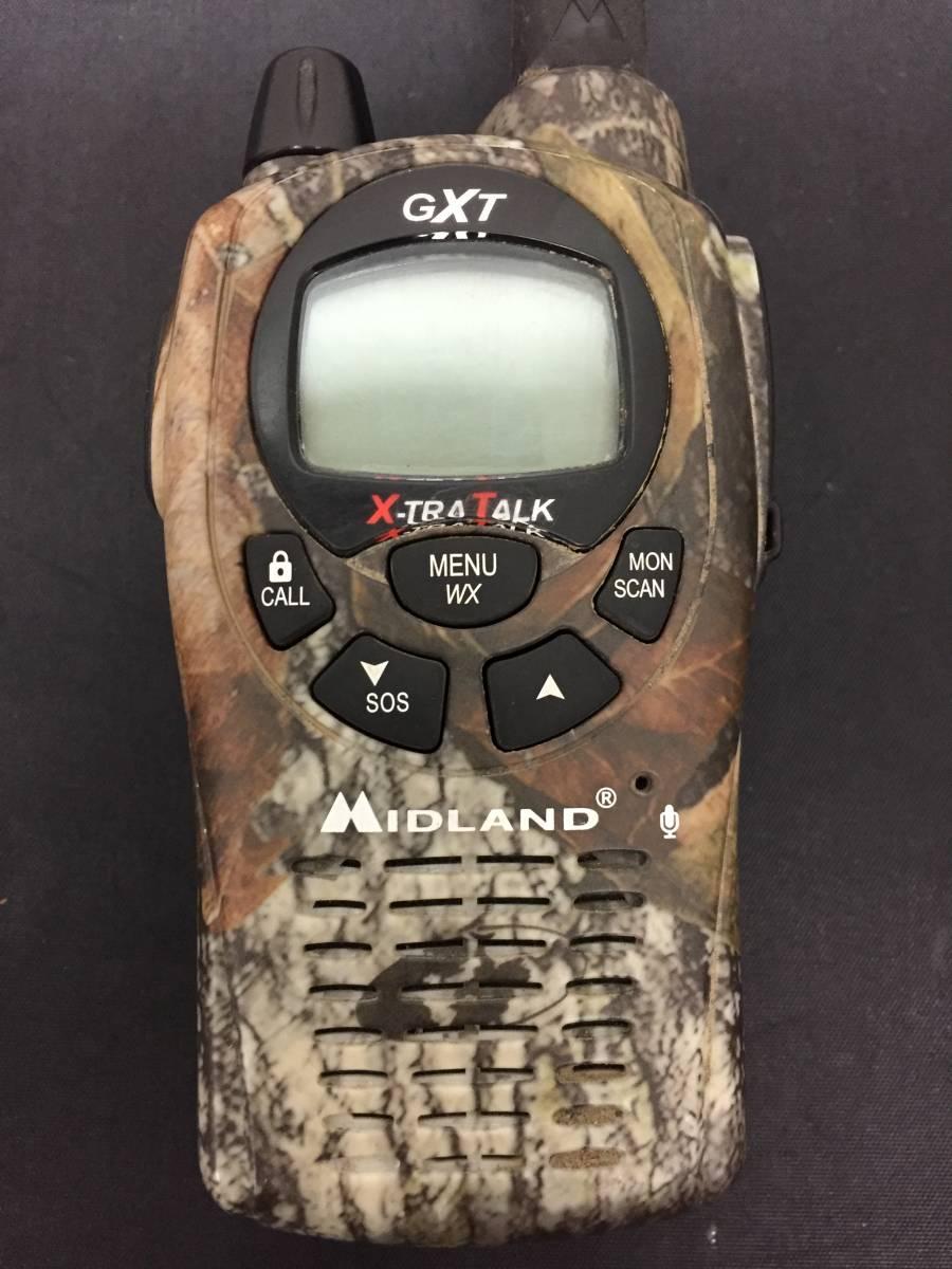 Midland 無線機 GXT1050カモ柄? ジャンク YA-H500_画像6
