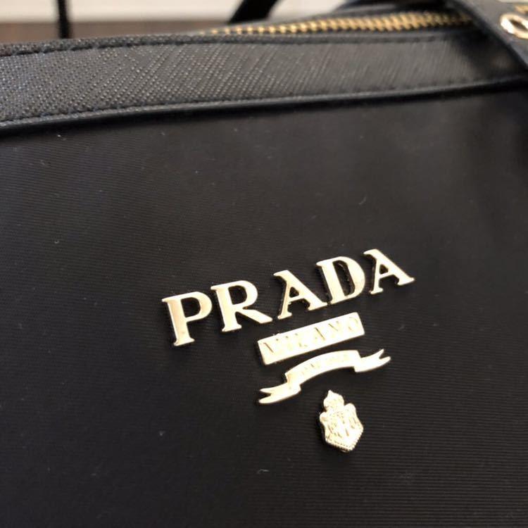 【正規品】PRADA プラダ 2WAY ショルダーバッグ トートバッグ ハンドバッグ 斜め掛け 美品 黒 ☆売り切り☆_画像5