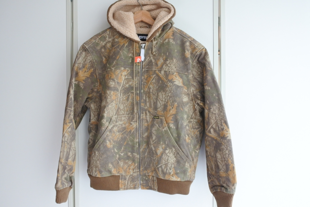 Supreme Hooded Suede Work Jacket シュプリーム カモ Mサイズ ワークジャケット 定価85000円 正規品_画像1