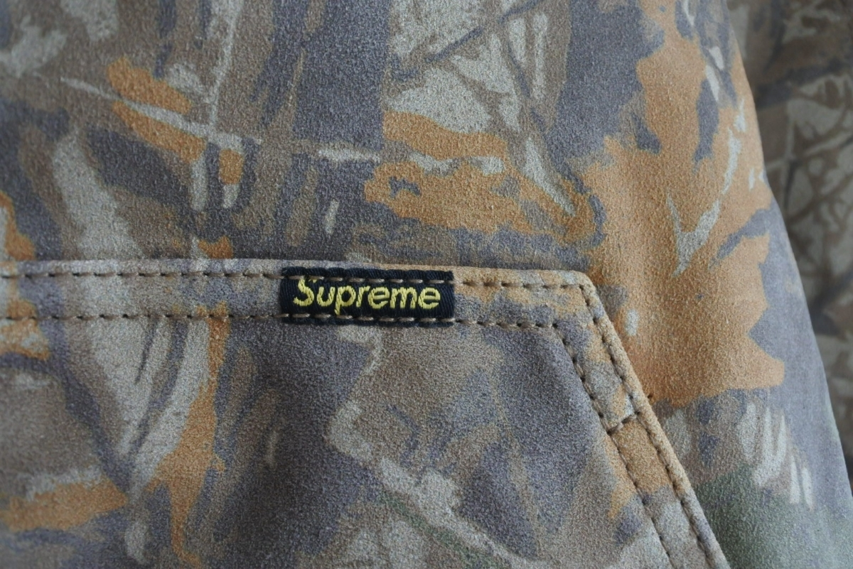 Supreme Hooded Suede Work Jacket シュプリーム カモ Mサイズ ワークジャケット 定価85000円 正規品_画像3