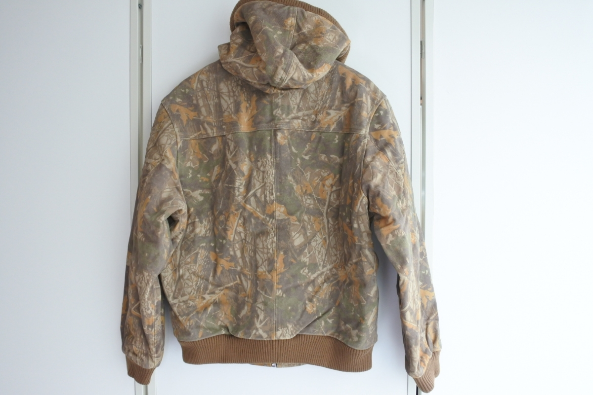 Supreme Hooded Suede Work Jacket シュプリーム カモ Mサイズ ワークジャケット 定価85000円 正規品_画像2