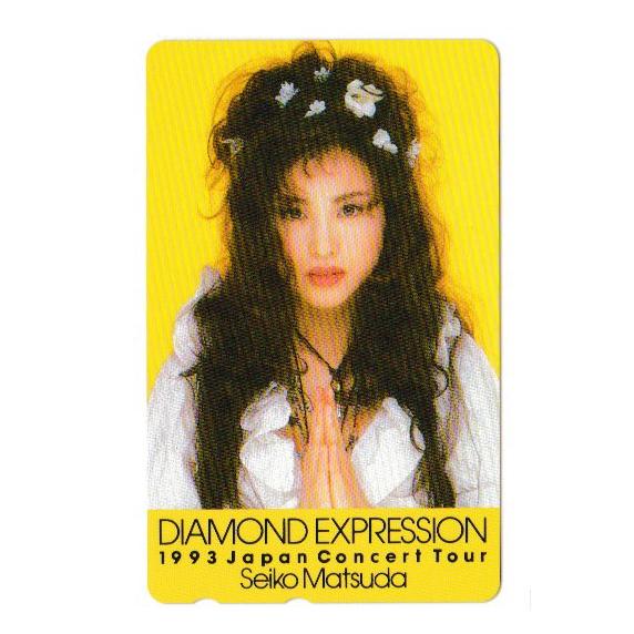 ★松田聖子|テレホンカード/テレカ|50度数|未使用|1993 Concert Tour DIAMOND EXPRESSION_画像1