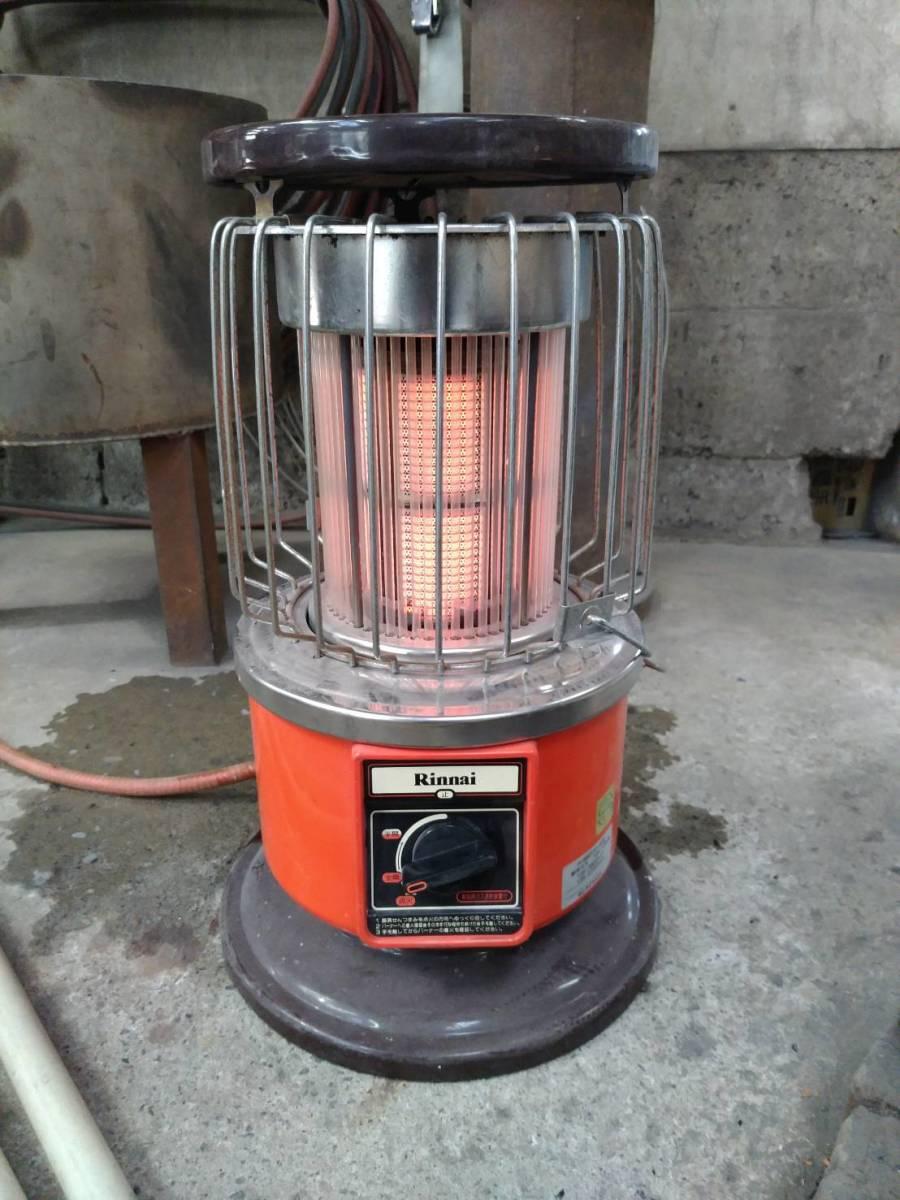 リンナイ R-890VM-402 都市ガス レトロストーブ ホース付 燃焼テスト済_画像3