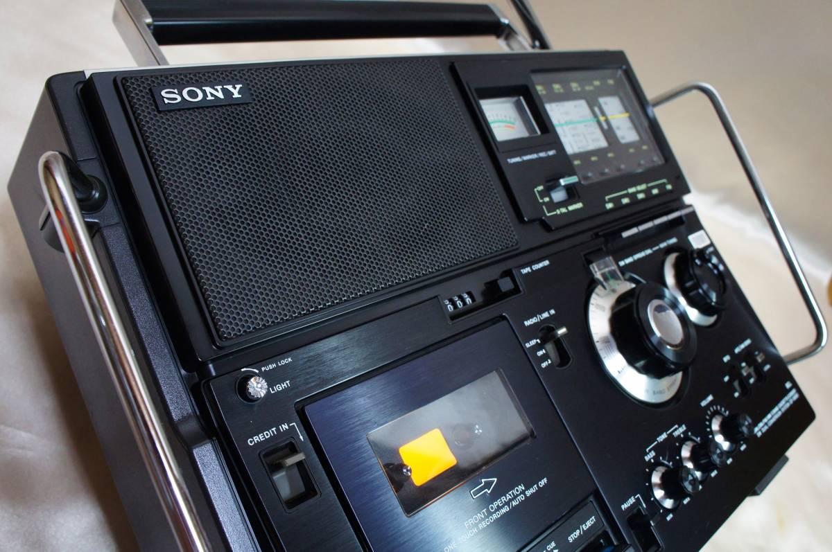 ☆カセット&ラジオ作動☆SONYカセットスカイセンサー☆CF-5950☆BCLラジオ☆ラジカセ☆ソニー☆_画像5