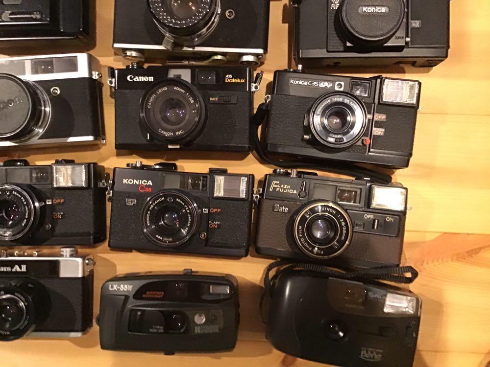 ジャンク コンパクトフィルムカメラ まとめて 28台セット RICOH MINOLTA KONICA OLYMPUS CANON FUJICA CHINONYASHICA PENTAX 等_画像5