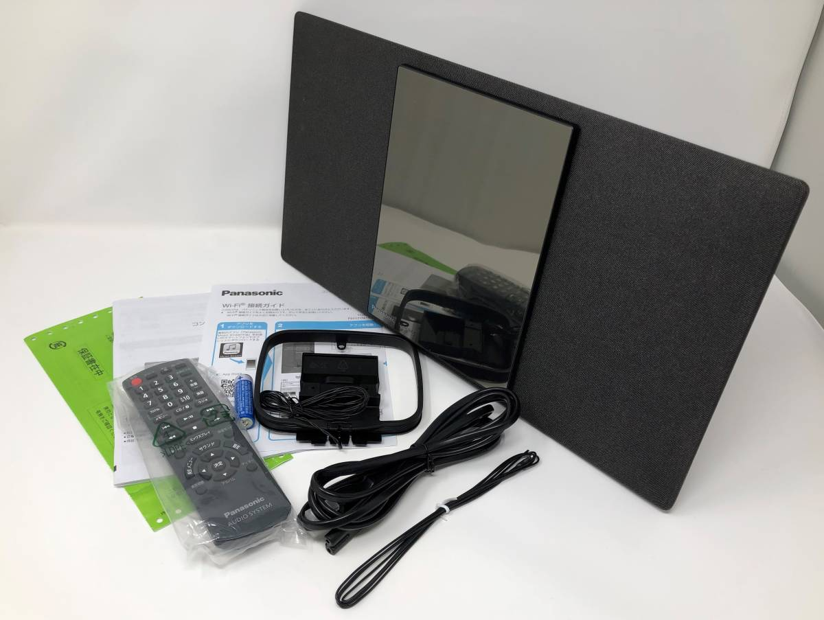 展示品 保証付き Panasonic コンパクトステレオシステム SC-HC1000 -K ブラック