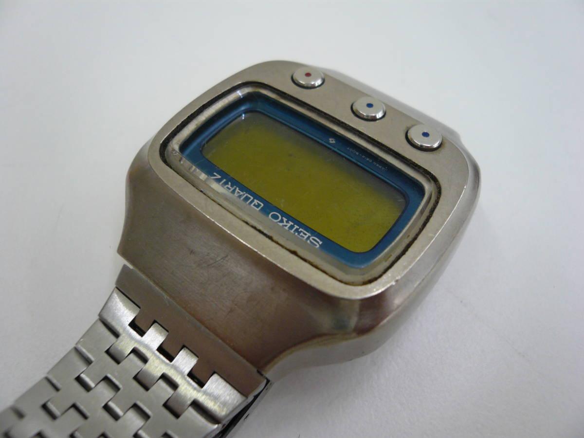レア SEIKO 0614-5000 初期型 デジタル チタン セイコー 希少 腕時計 ジャンク品扱い 激安 爆安 1円スタート_画像3