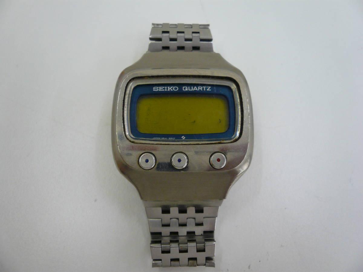 レア SEIKO 0614-5000 初期型 デジタル チタン セイコー 希少 腕時計 ジャンク品扱い 激安 爆安 1円スタート