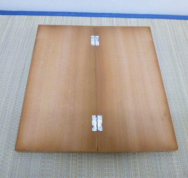 卓上盤 将棋盤 7号本寸 桂生地 折り畳み 卓上 ポータブル #510-10A3_画像4