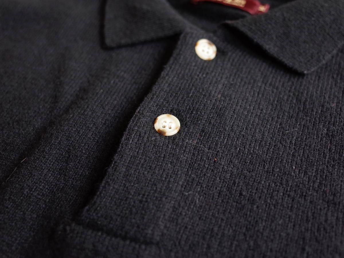 レア【超美品】Polo Ralph Lauren 90's CHAPS 日本製 長袖 ポロシャツ 薄手 ニット生地 シンプル ビンテージ 日登美 ★_画像4