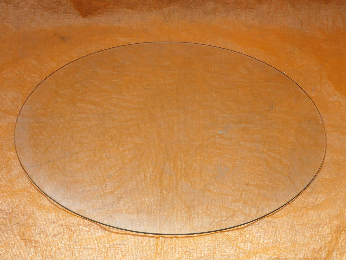 テーブル用 丸ガラス 円形ガラス 約65㎝ 約5㎜厚 クリア