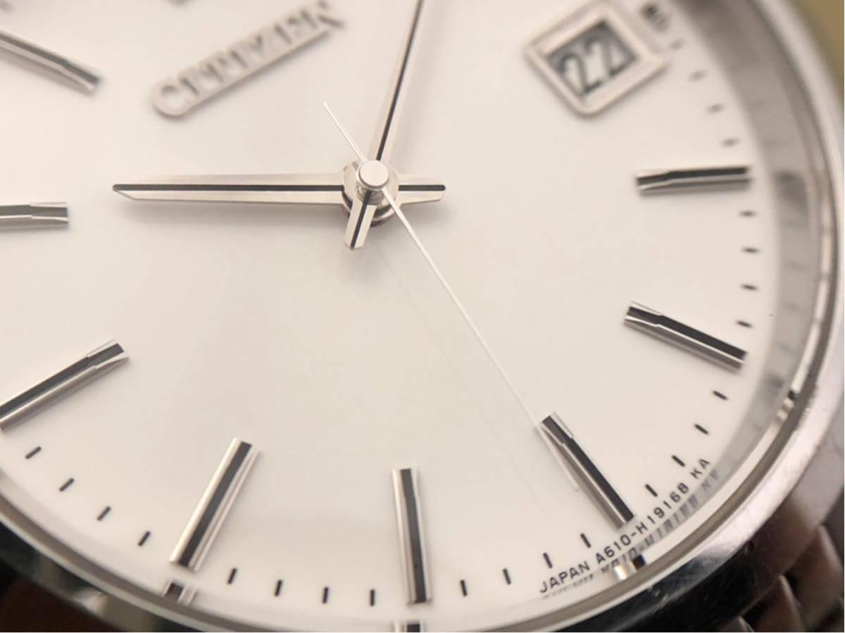 【最高級モデル】ザシチズン The CITIZEN A610-H14061 高精度 年差 クォーツ 腕時計 純正 ステンレス ブレス付き 日本製【電池交換済み】_画像7