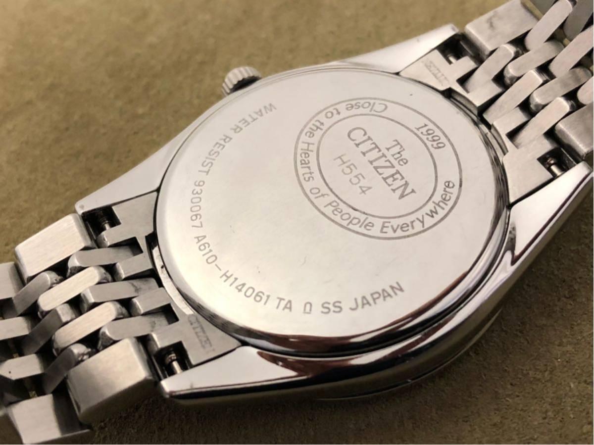 【最高級モデル】ザシチズン The CITIZEN A610-H14061 高精度 年差 クォーツ 腕時計 純正 ステンレス ブレス付き 日本製【電池交換済み】_画像5