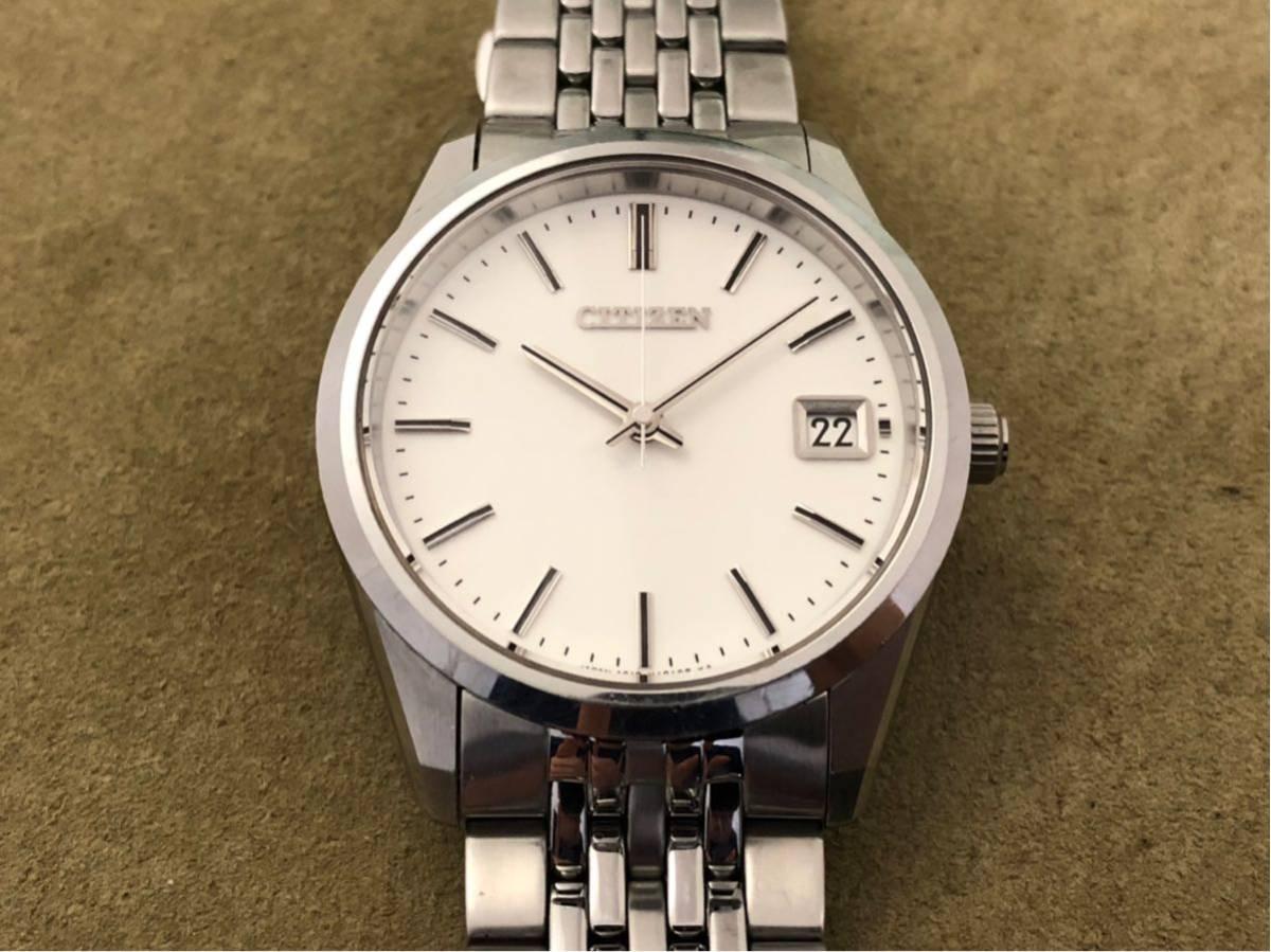 【最高級モデル】ザシチズン The CITIZEN A610-H14061 高精度 年差 クォーツ 腕時計 純正 ステンレス ブレス付き 日本製【電池交換済み】_画像10