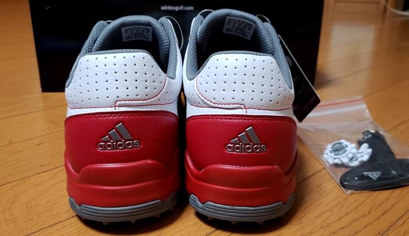 adidasゴルフシューズ(ボア)ホワイト シルバー&レッドステッチライン(26.5~27.0cm)=ヤフネコで送料安め=_画像5