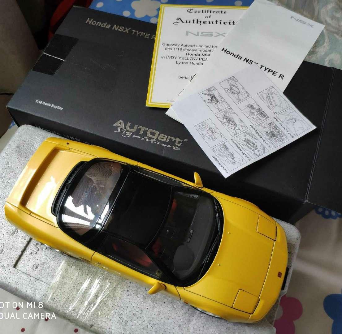人気合金模型車ミニカーコレクションホンダ・NSX 1992 type r hoda1:18スケールシルバー新品_画像5