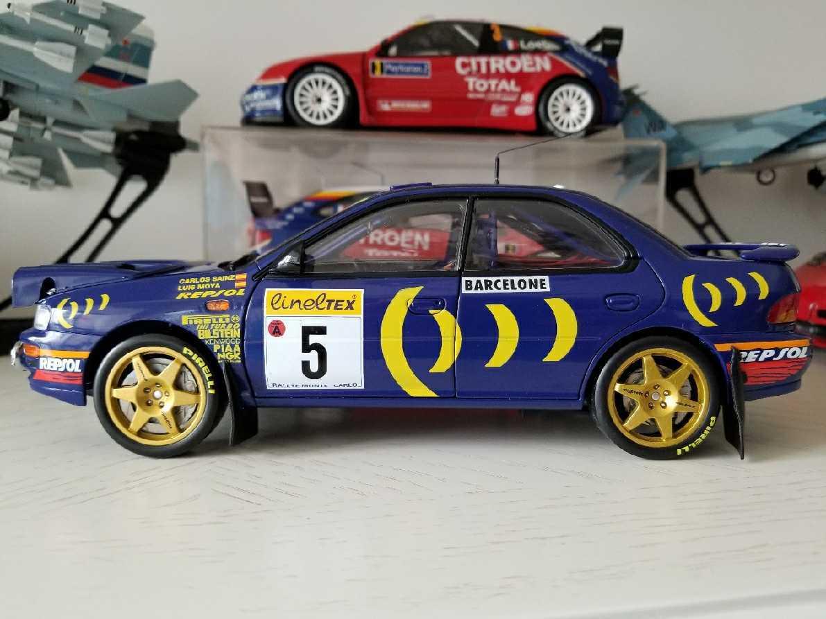 人気合金模型車ミニカーコレクションAUTOART 1:18スバルIMPREZA WRC 1997スケールシルバー新品_画像3