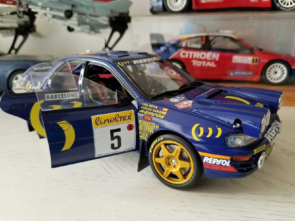 人気合金模型車ミニカーコレクションAUTOART 1:18スバルIMPREZA WRC 1997スケールシルバー新品