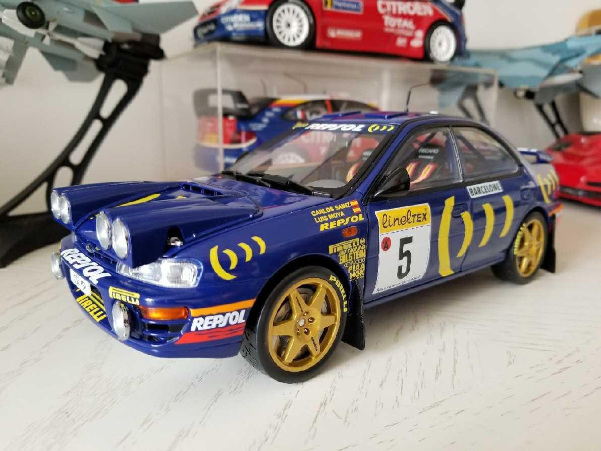 人気合金模型車ミニカーコレクションAUTOART 1:18スバルIMPREZA WRC 1997スケールシルバー新品_画像7