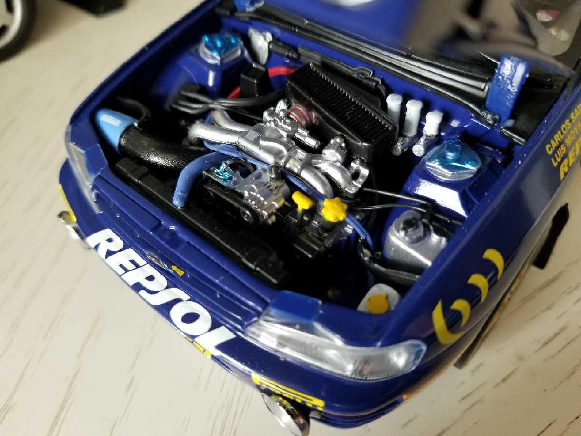 人気合金模型車ミニカーコレクションAUTOART 1:18スバルIMPREZA WRC 1997スケールシルバー新品_画像8