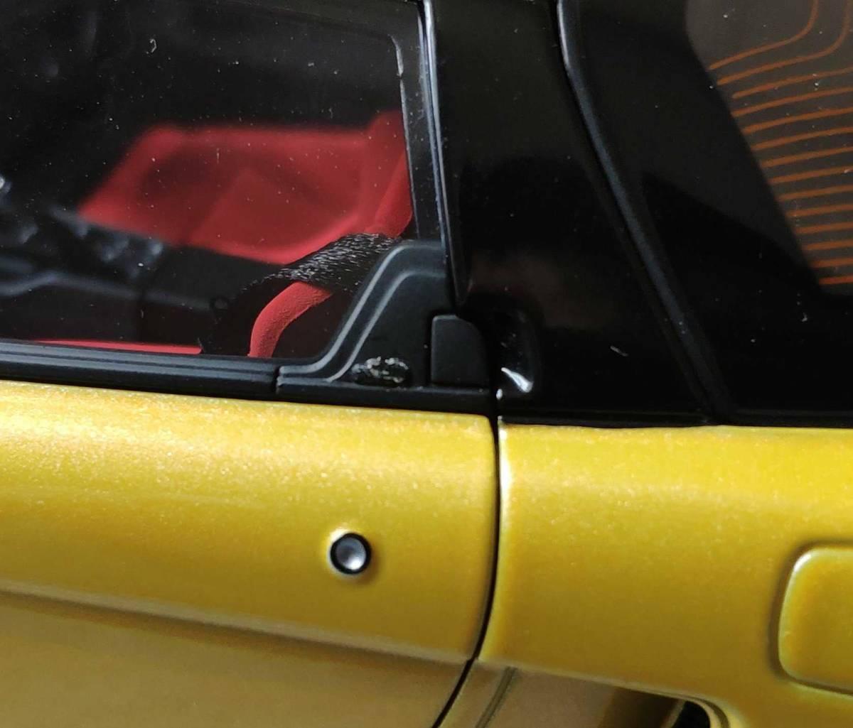 人気合金模型車ミニカーコレクションホンダ・NSX 1992 type r hoda1:18スケールシルバー新品_画像9