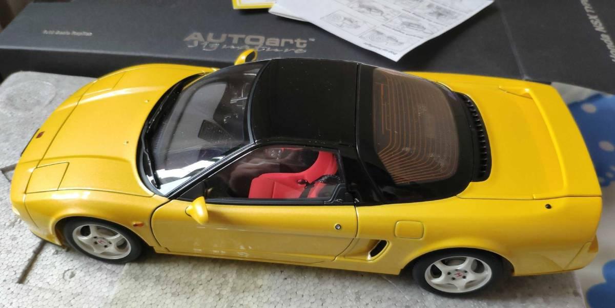 人気合金模型車ミニカーコレクションホンダ・NSX 1992 type r hoda1:18スケールシルバー新品_画像3