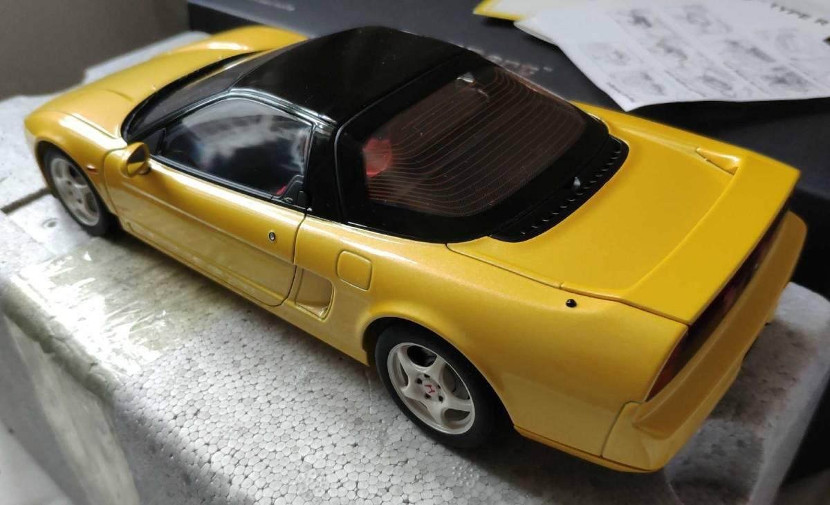 人気合金模型車ミニカーコレクションホンダ・NSX 1992 type r hoda1:18スケールシルバー新品_画像8