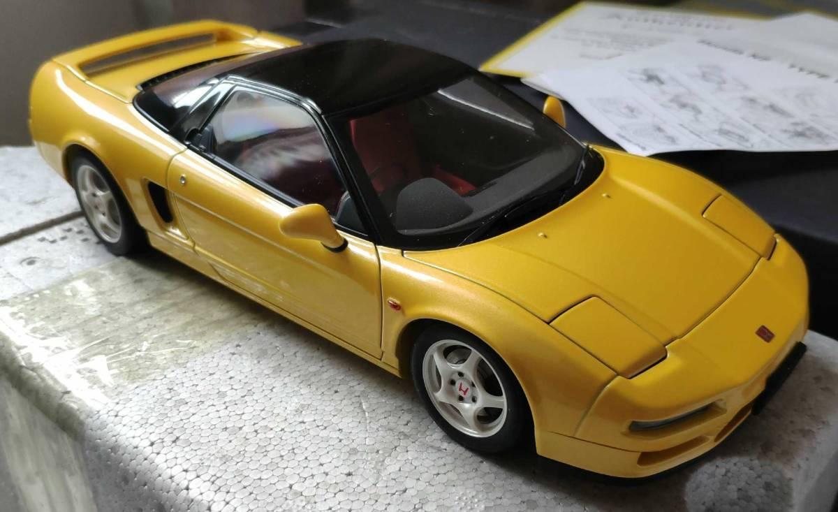人気合金模型車ミニカーコレクションホンダ・NSX 1992 type r hoda1:18スケールシルバー新品_画像4